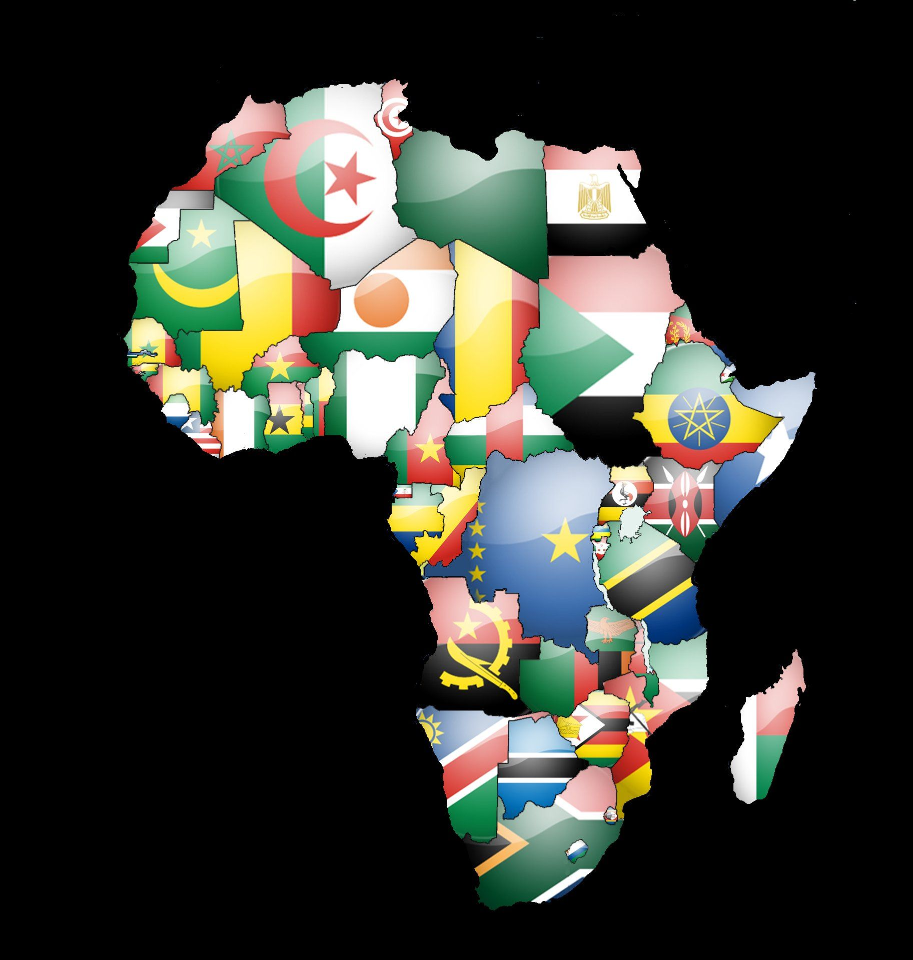Africa Map Wallpapers 1825x1919