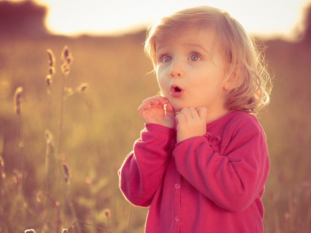 Lovely Baby Girl With Pink Dress HD Wallpaper Cute Little Babies 1024x768