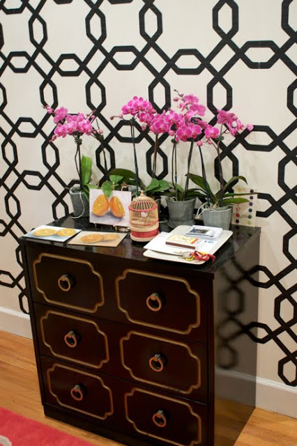 Removable wallpaper can be found at Sherwin Williams Pattern shown 426x640