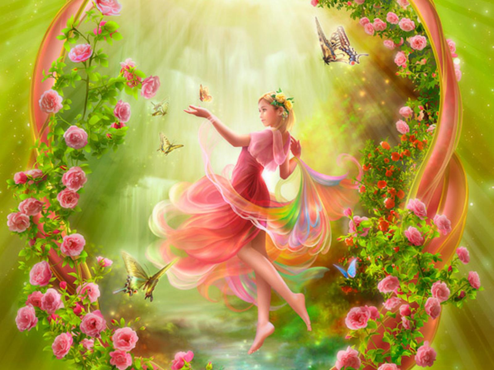 Fairy Garden Wallpaper Www Pixshark Com Images
