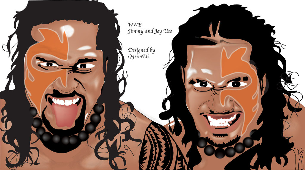 Jimmy and jey uso face portrait by qasimali01 1024x574