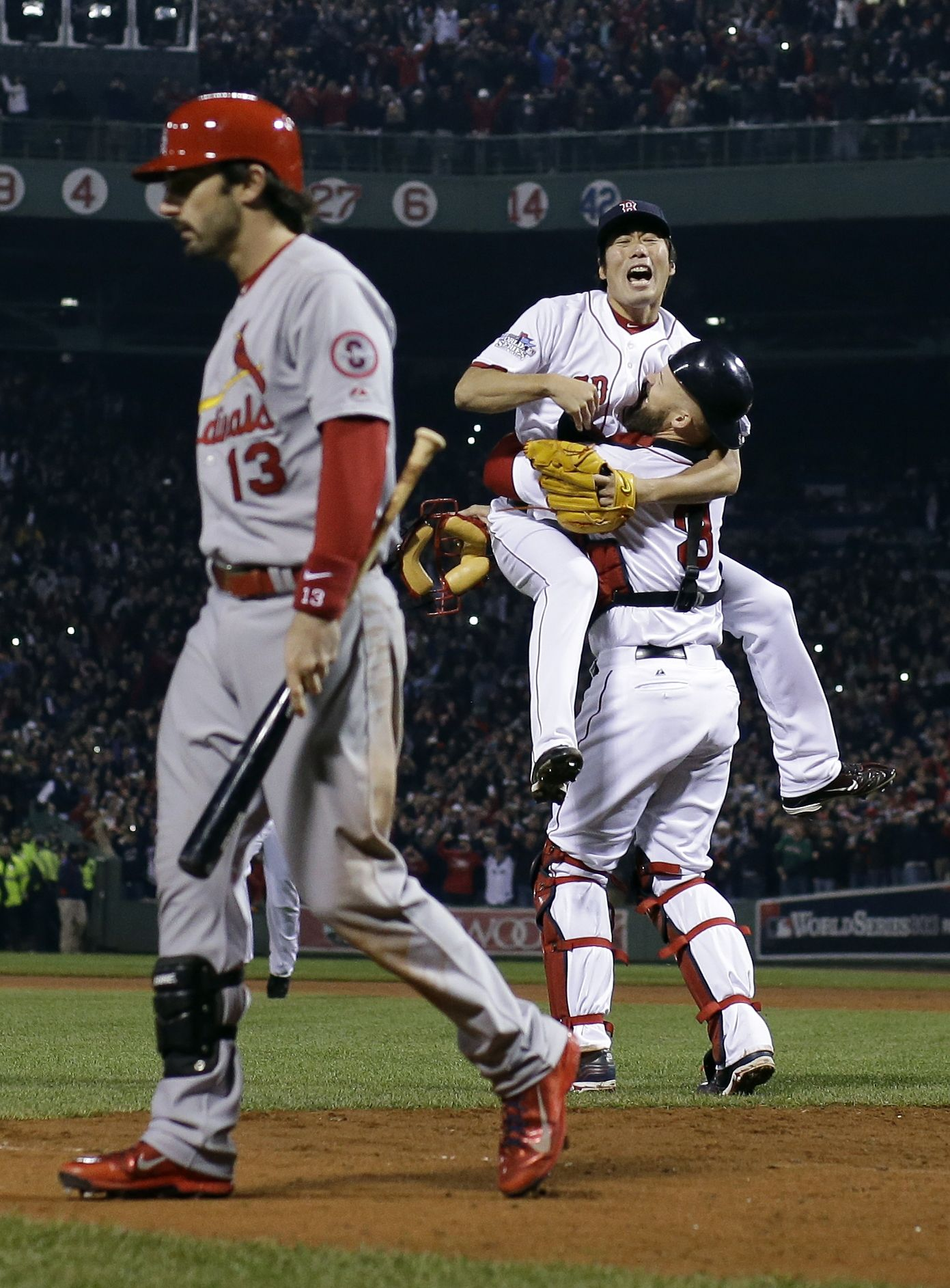 Red Sox win WS title beat Cards 6 1 in Game 6 1391x1885