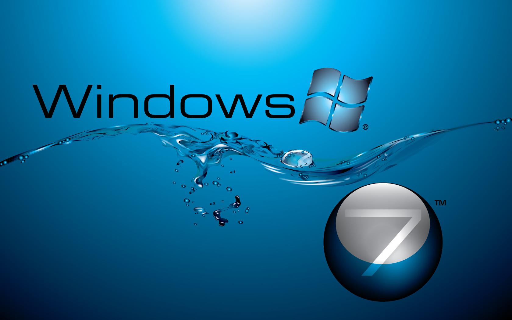 Windows 7 in Water Flow Wallpapers HD Wallpapers 1680x1050