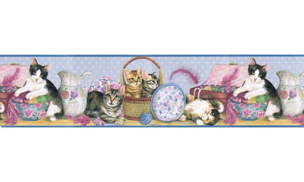 Home Cats Wallpaper Border B5803020 1000x600