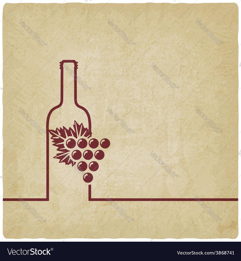 Wine menu old background Royalty Vector Image 1000x1080
