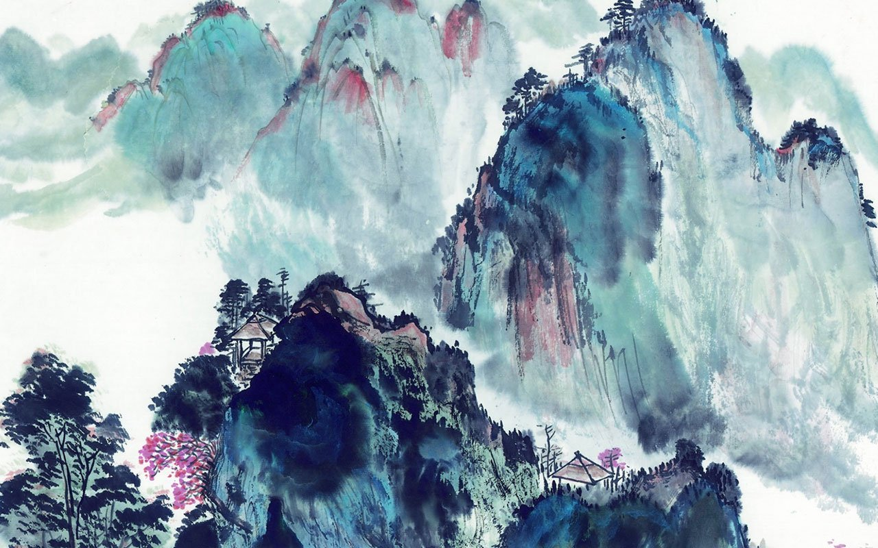 Chinese style landscapes ink wallpaper 6 Paintings Wallpapers 1280x800