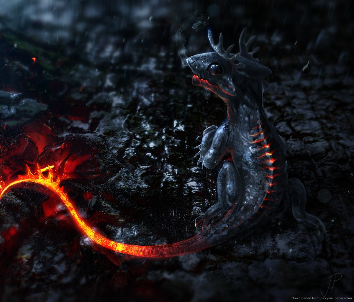 3d Galaxy Wallpapers 3d lava dragon baby for 1200x1024