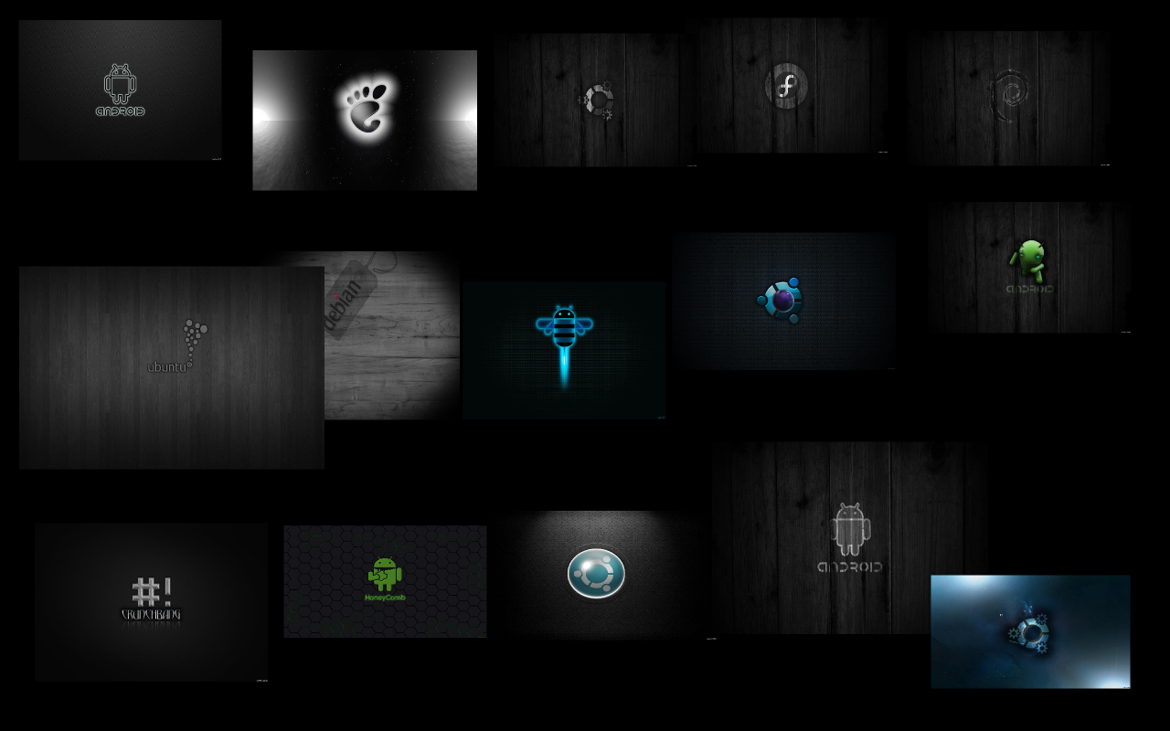 15 Dark Wallpapers For Linux Android LinuxNov 1280x800