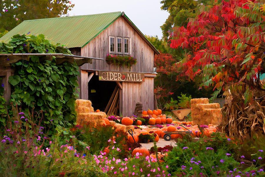 Photograph   Vermont Pumpkins And Autumn Flowers by Jeff Folger 900x600