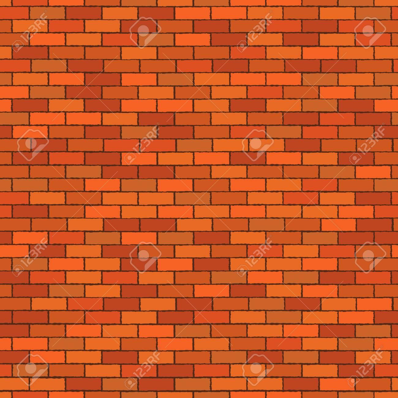 Orange Seamless Brick Wall Pattern Stonework Background Vector 1300x1300