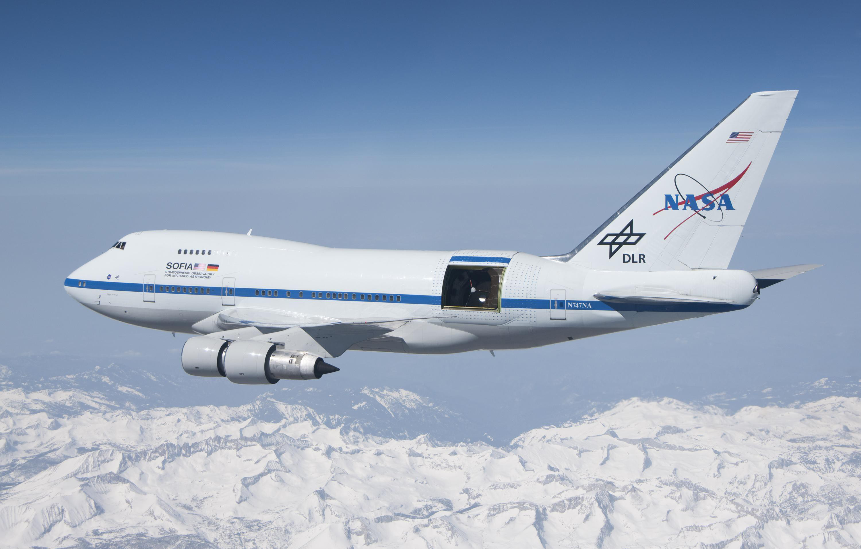 Infrared telescope boeing 747sp nasa wallpaper 3000x1914 148582 3000x1914