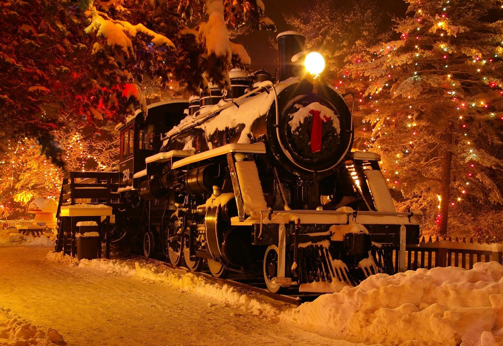 Christmas Train Desktop Wallpaper Wallpapersafari