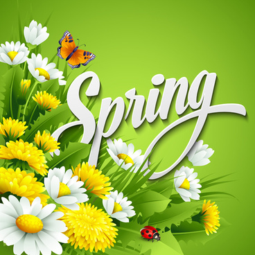 Spring Flowers Butterfly Vector vector in Adobe 368x368