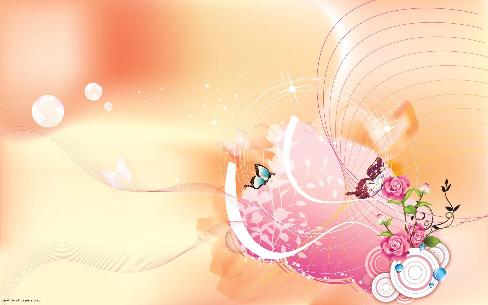 Butterflies And Roses Wallpaper