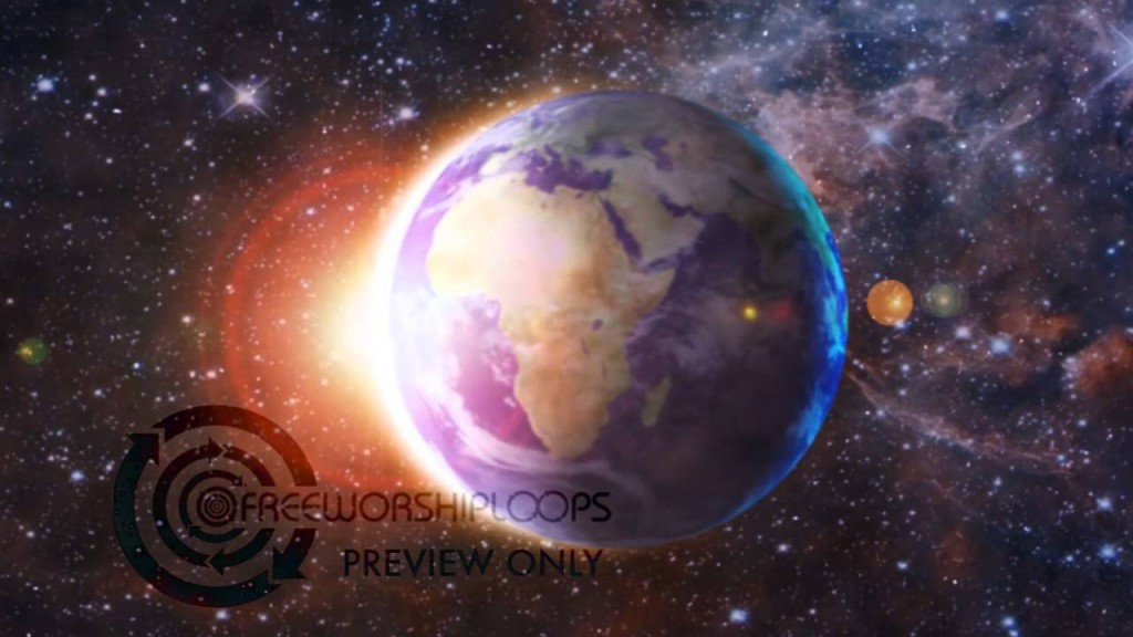 Rotating Earth Center Frame Moving Video Background   Worship 1024x576
