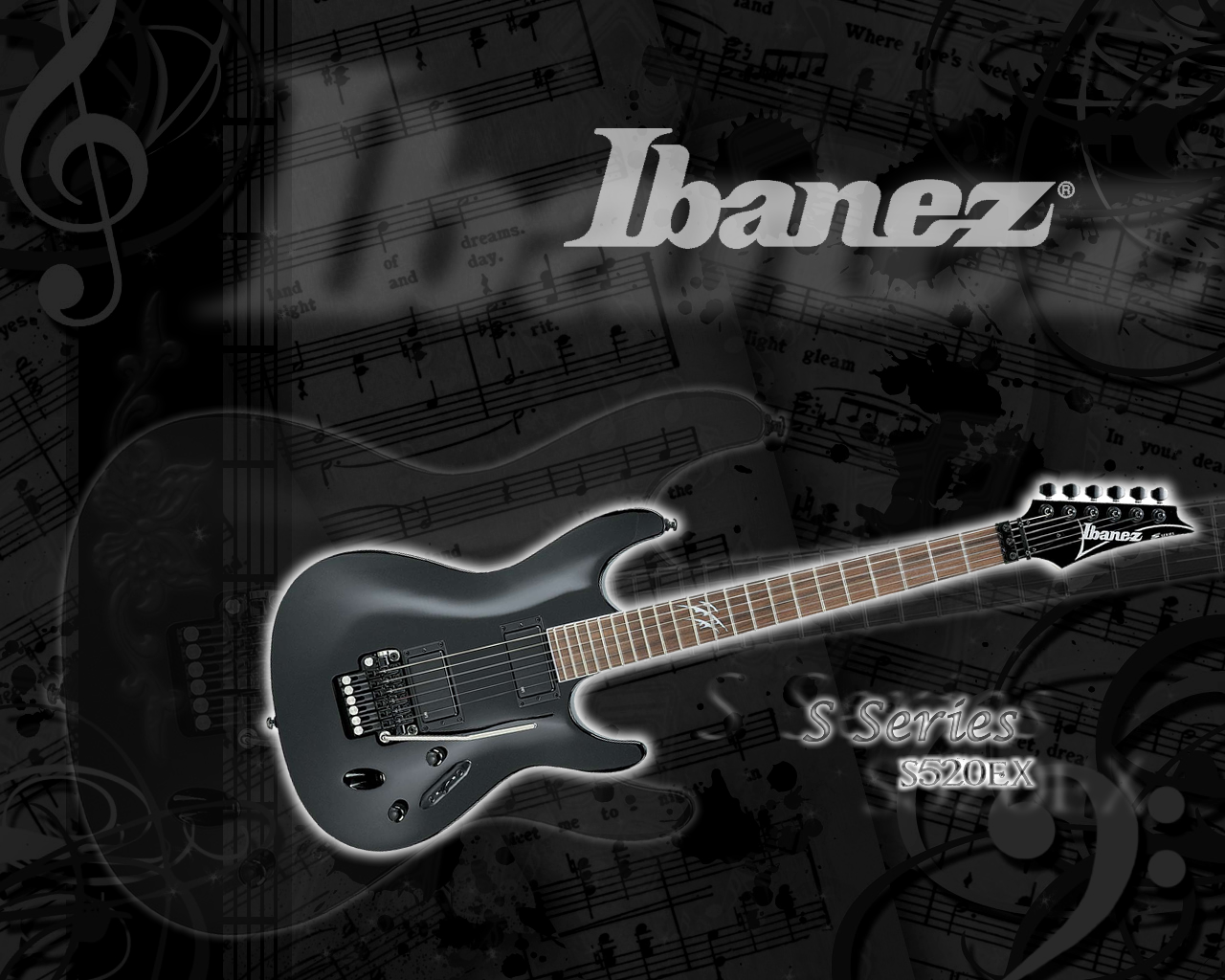 ibanez s series guitar the s520ex is am amazing guitar the background 1280x1024