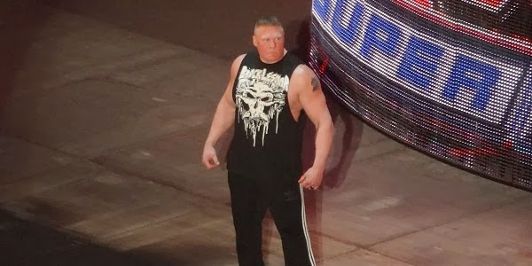 The unseen moment of Brock Lesnars entrance 600x300