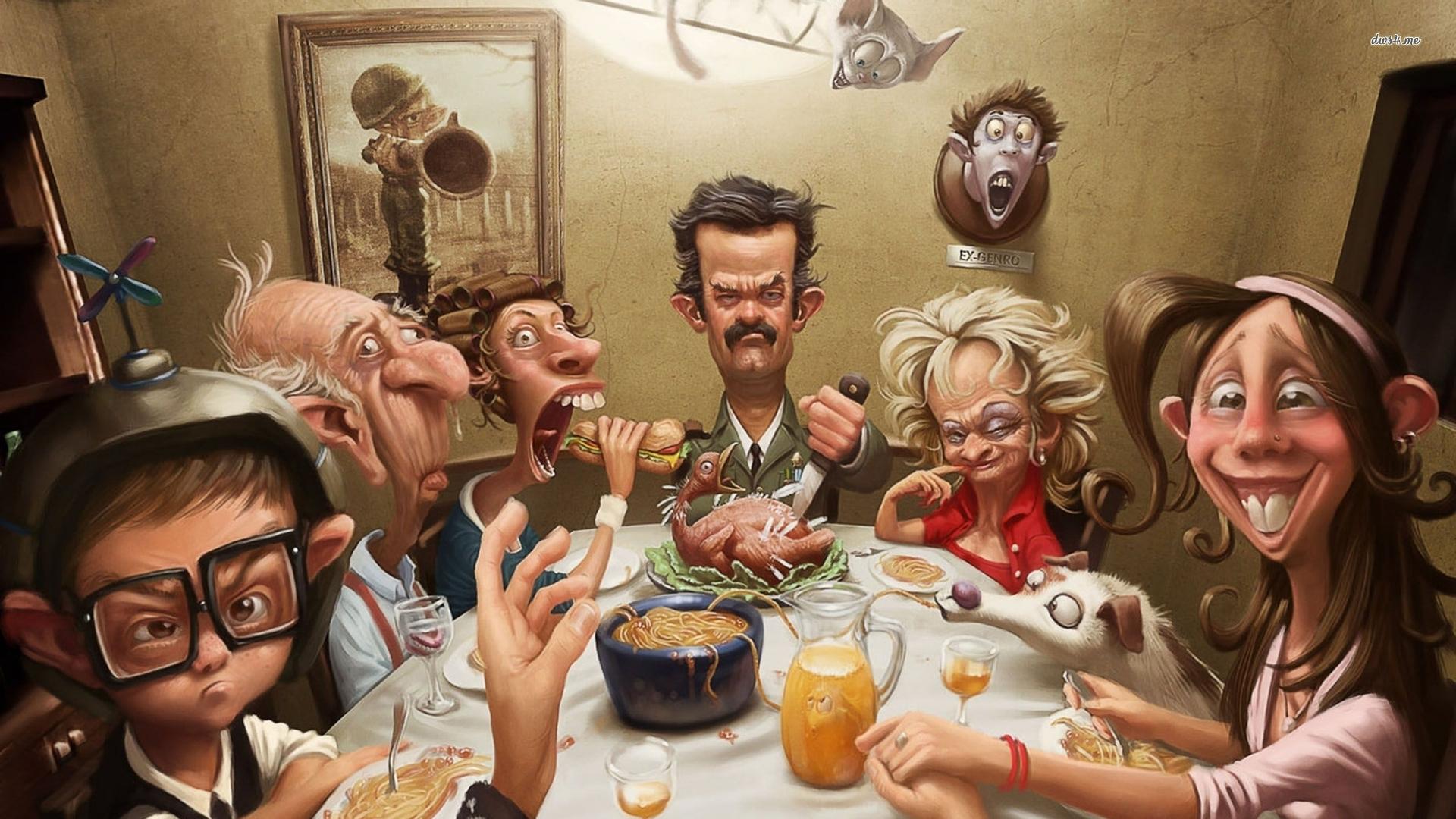 Thanksgiving caricature wallpaper   968729 1920x1080