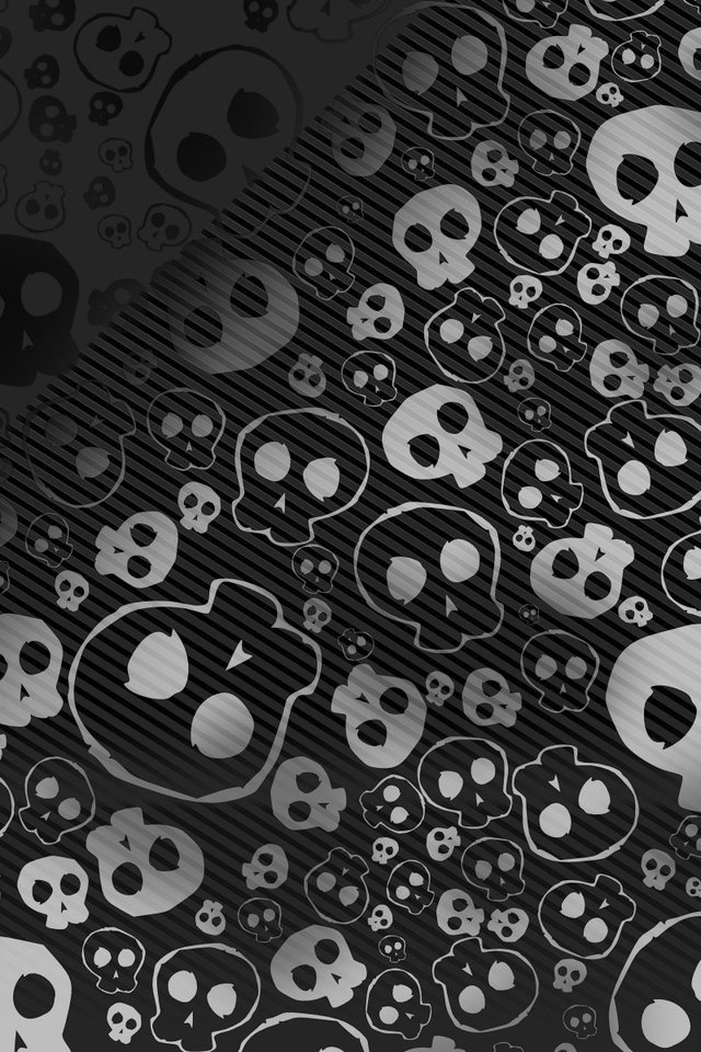 Emo skull iPhone HD Wallpaper iPhone HD Wallpaper download iPhone 640x960