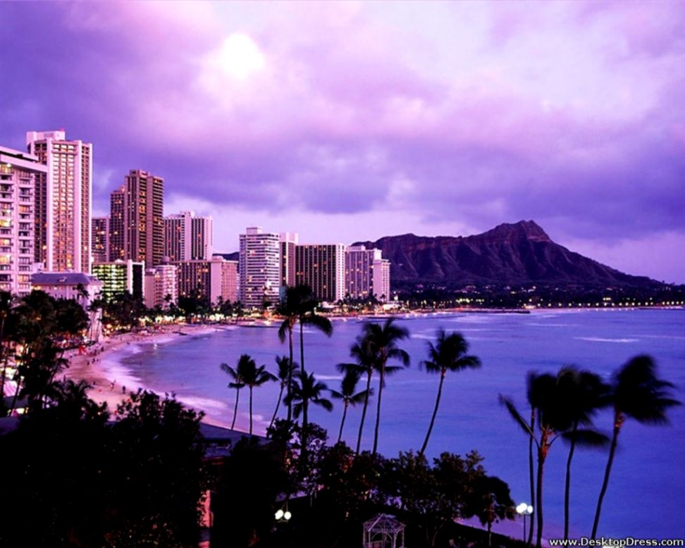 Waikiki Oahu Hawaii Beach Wallpapers Wallpapers Snipe 972x778