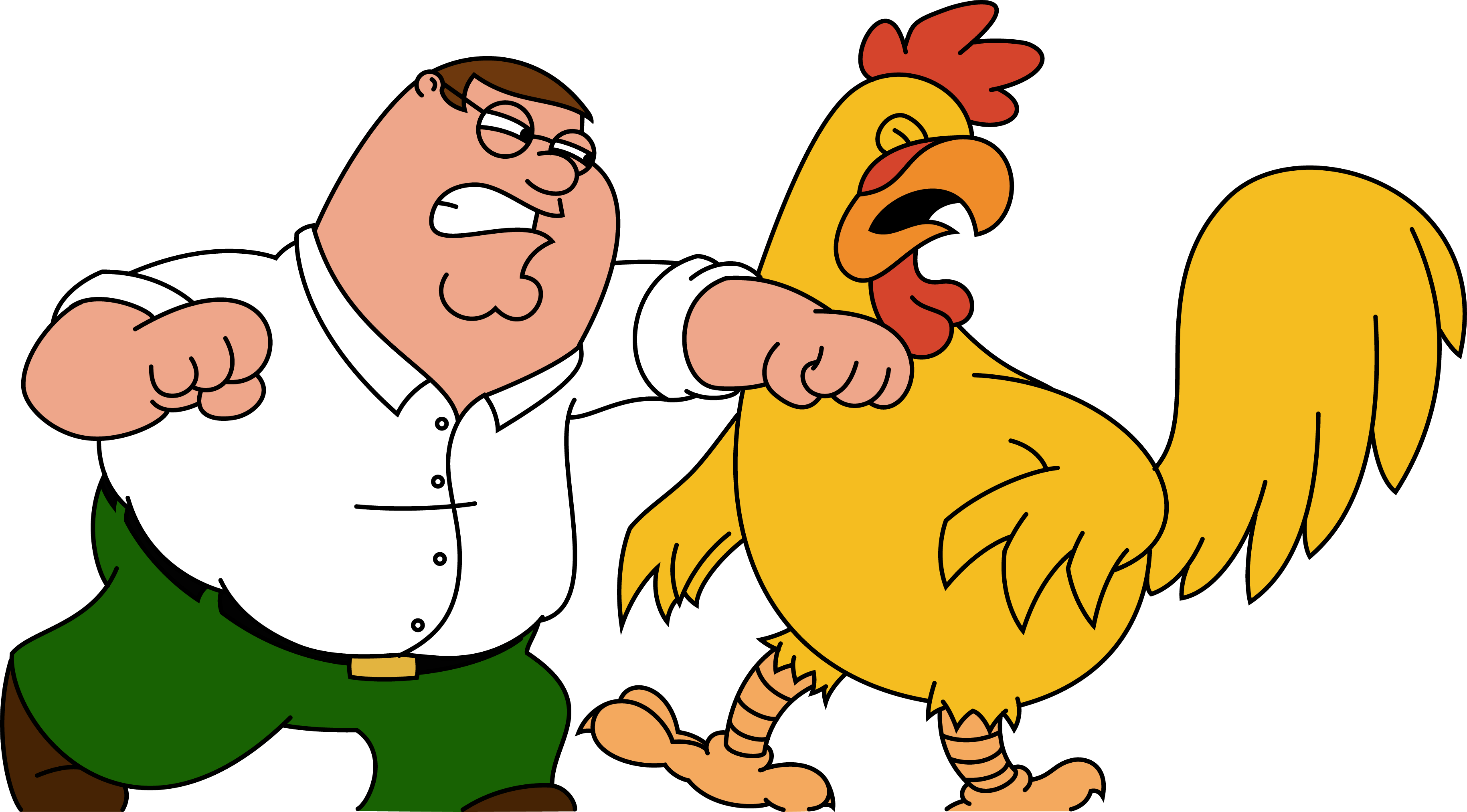 Chicken vs Peter Family Guy   Wallpaper 38102 3659x2026