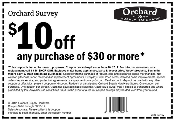 Orchard Supply Hardware Printable Coupons June 10 2012 HD Wallpaper 700x483