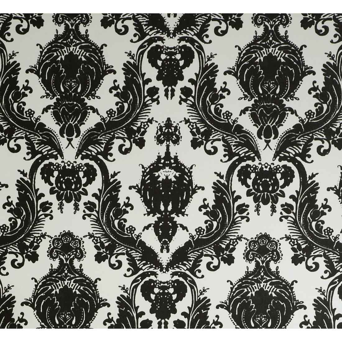 Designs Damsel Self Adhesive Black and White Temporary Wallpaper 1100x1100