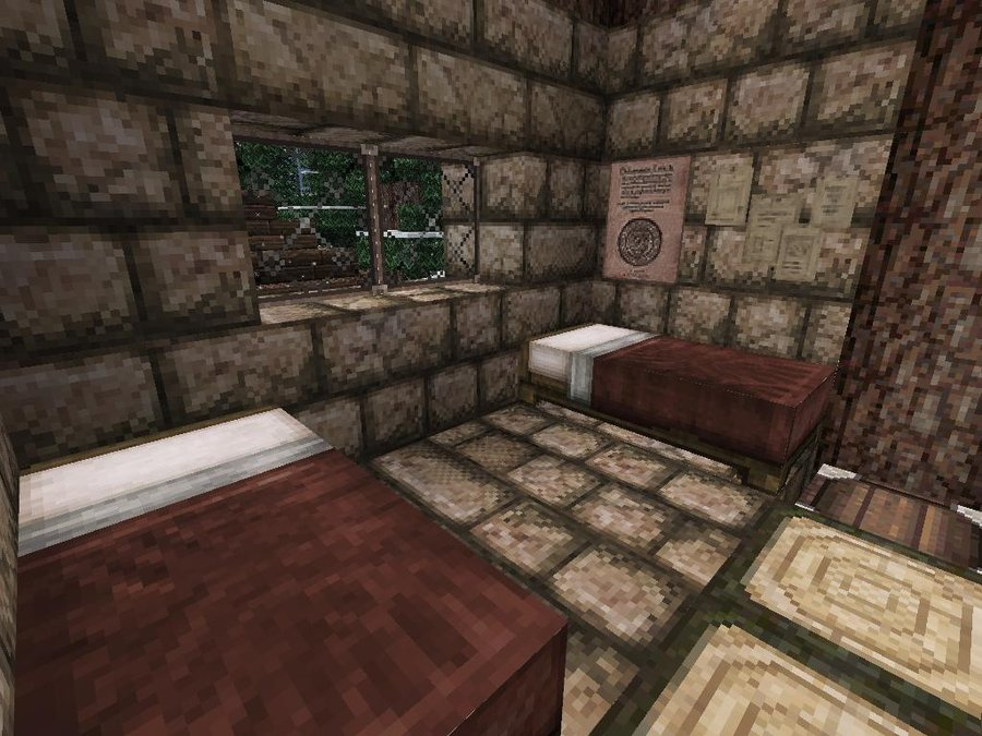 Minecraft Family Cabin Bedroom by lilgamerboy14 900x675