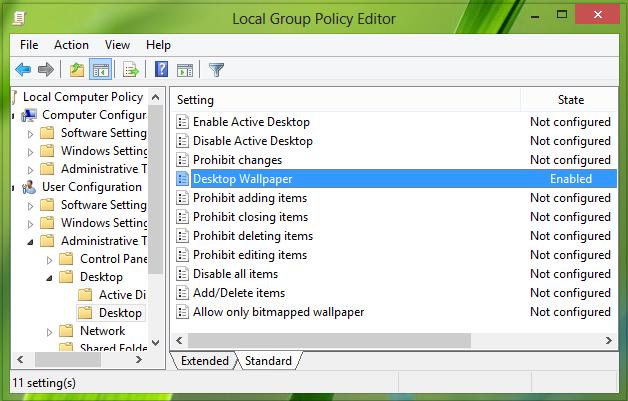 how to change desktop view in windows 8