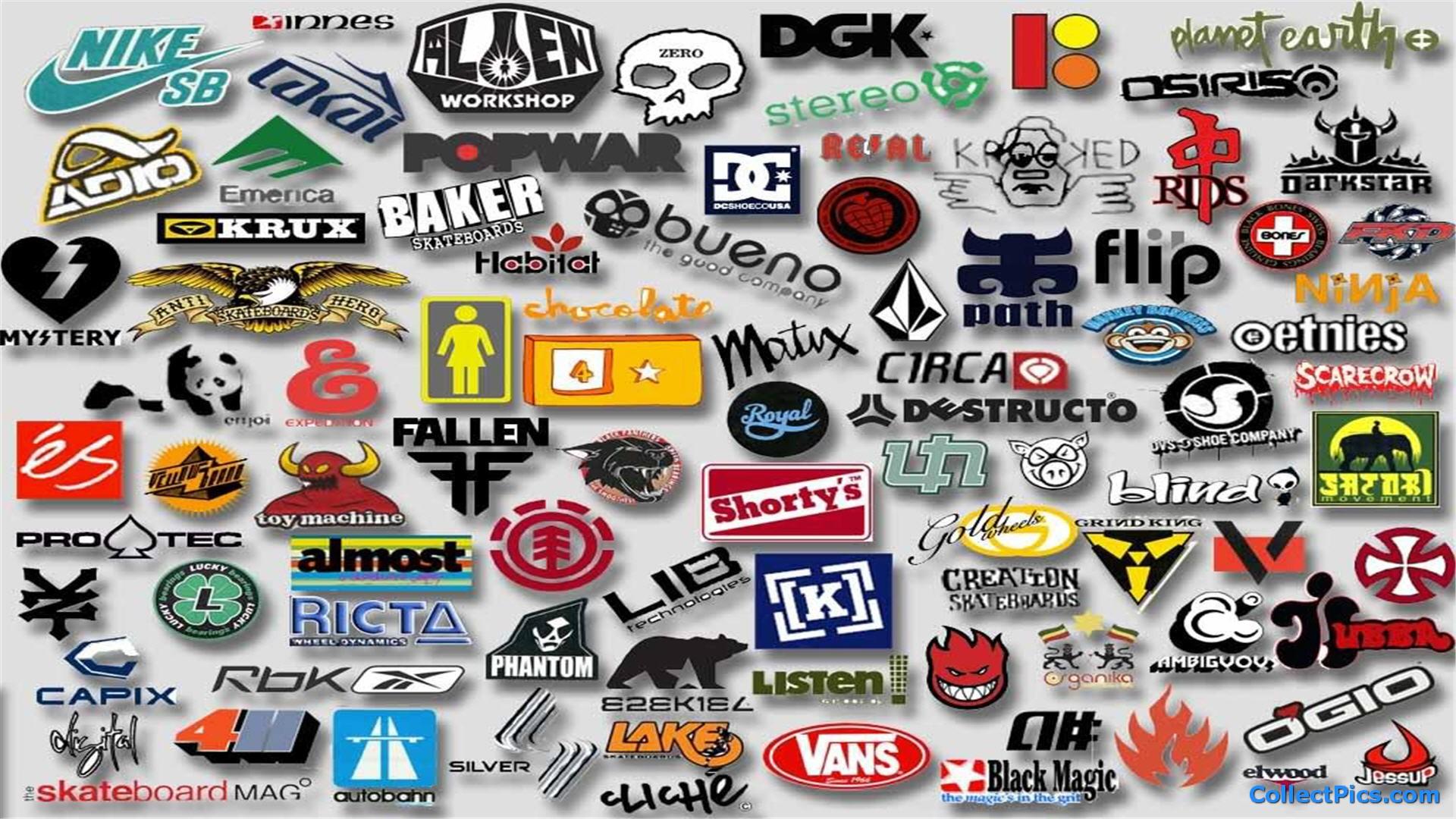 Skateboard Logos Wallpaper HD 1920x1080 4993 1920x1080