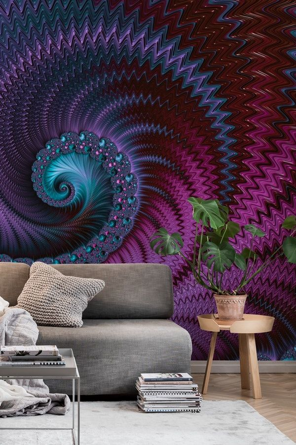Fascinating Fractal Fantasy Wall mural With images Home 600x900