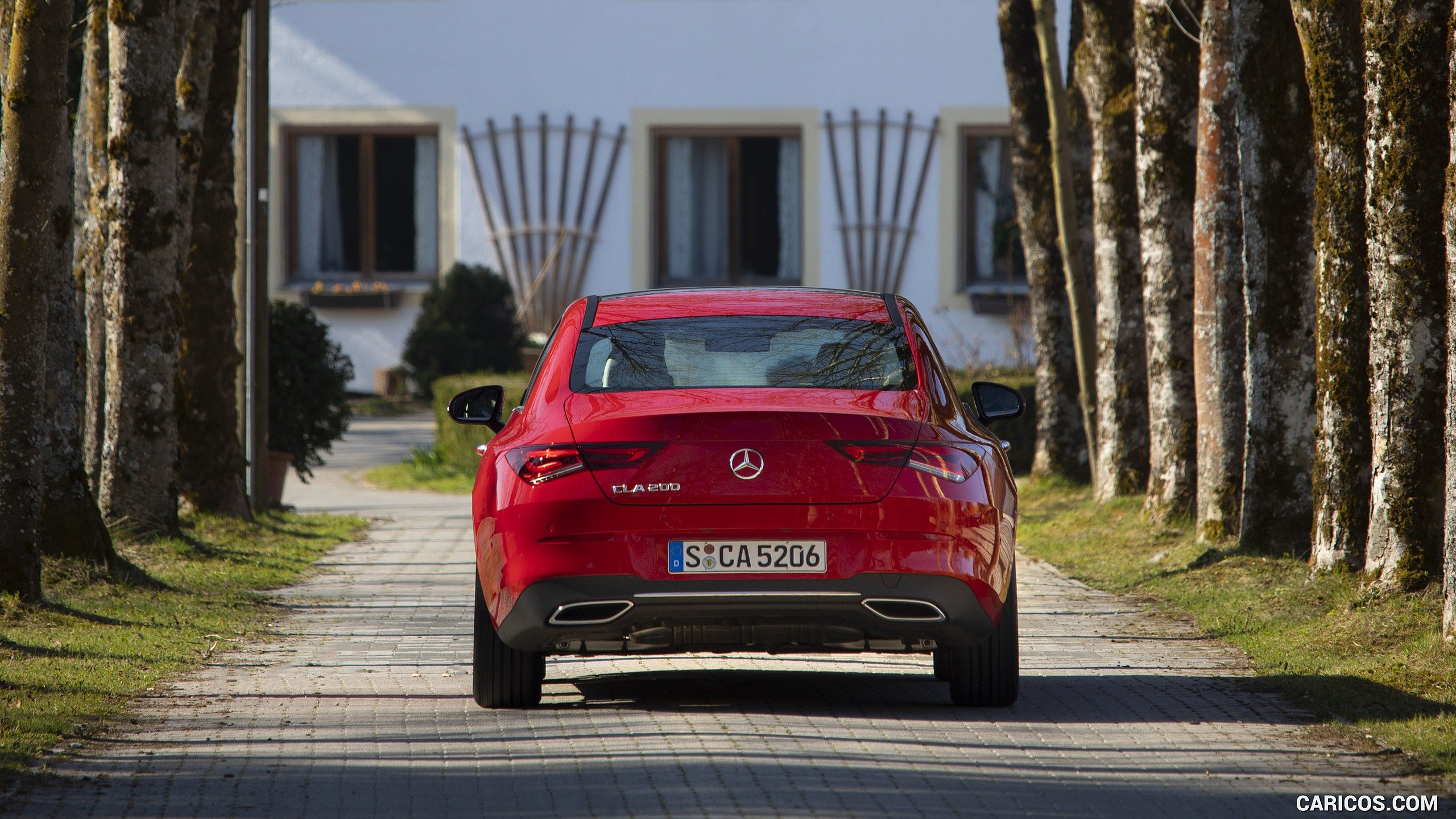 2020 Mercedes Benz CLA 200 Coupe Color Jupiter Red   Rear HD 2560x1440