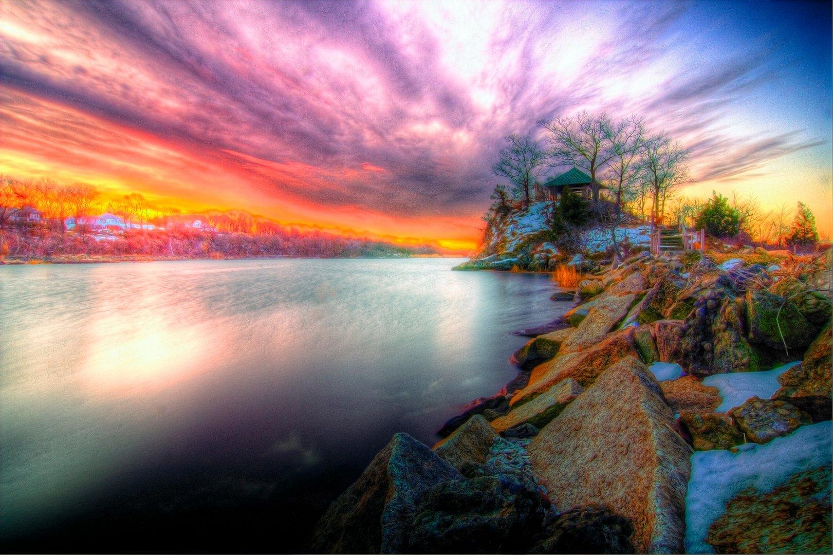 Download Sunset Wallpaper wallpaper 3D Sunset 1621x1080