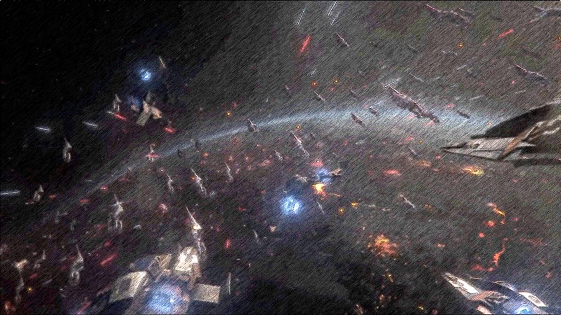 Star Wars Space Battle Wallpaper - WallpaperSafari