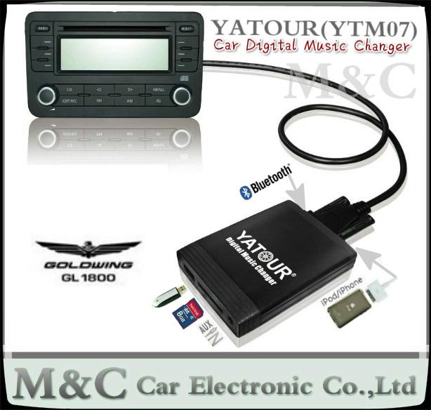 Ytm07 Digital Music Car Cd Changer Usb Sd Aux Bluetooth Adapter Image 614x584