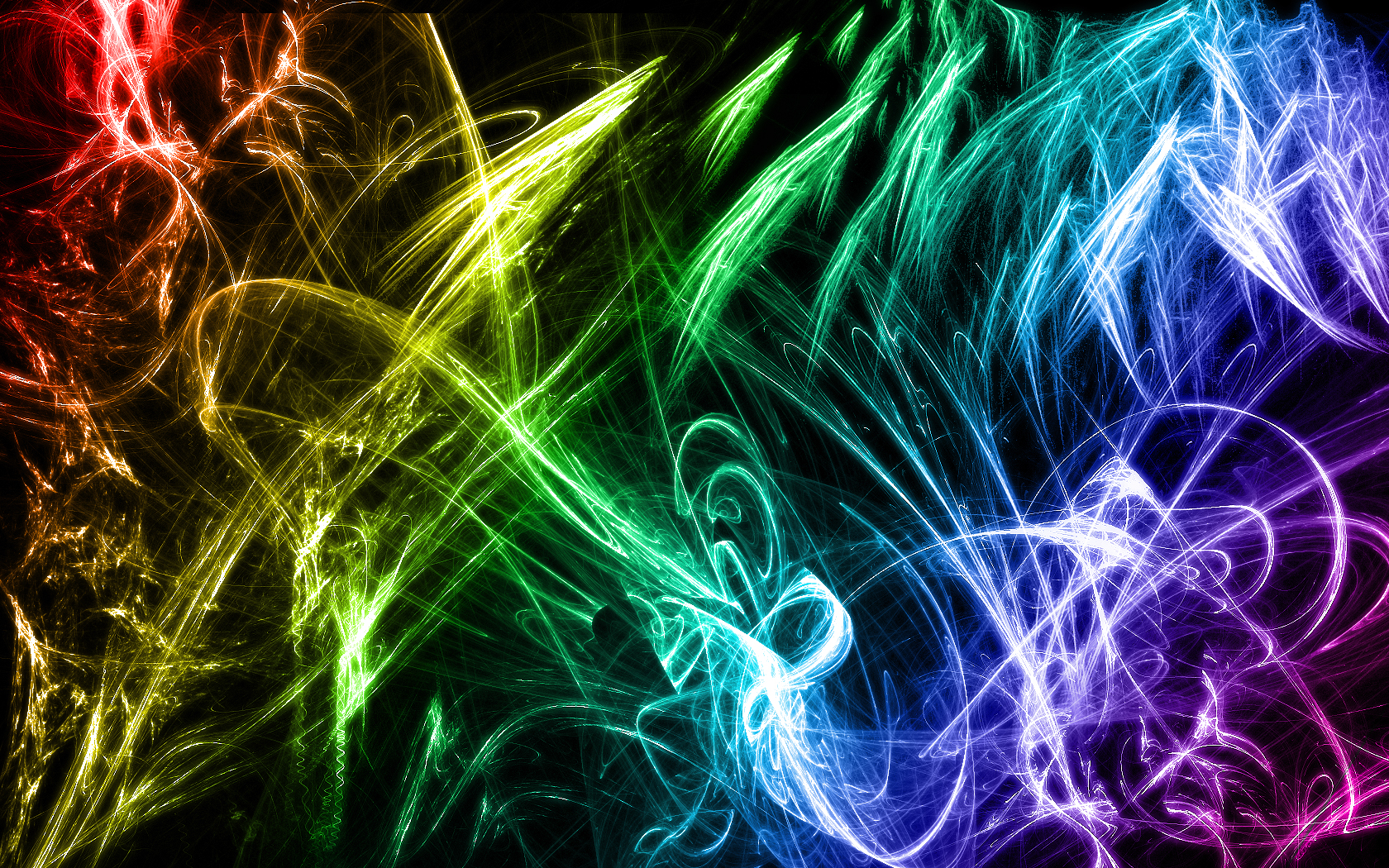 Anything and Everything images Neon Rainbow Wallpaper HD wallpaper 1680x1050
