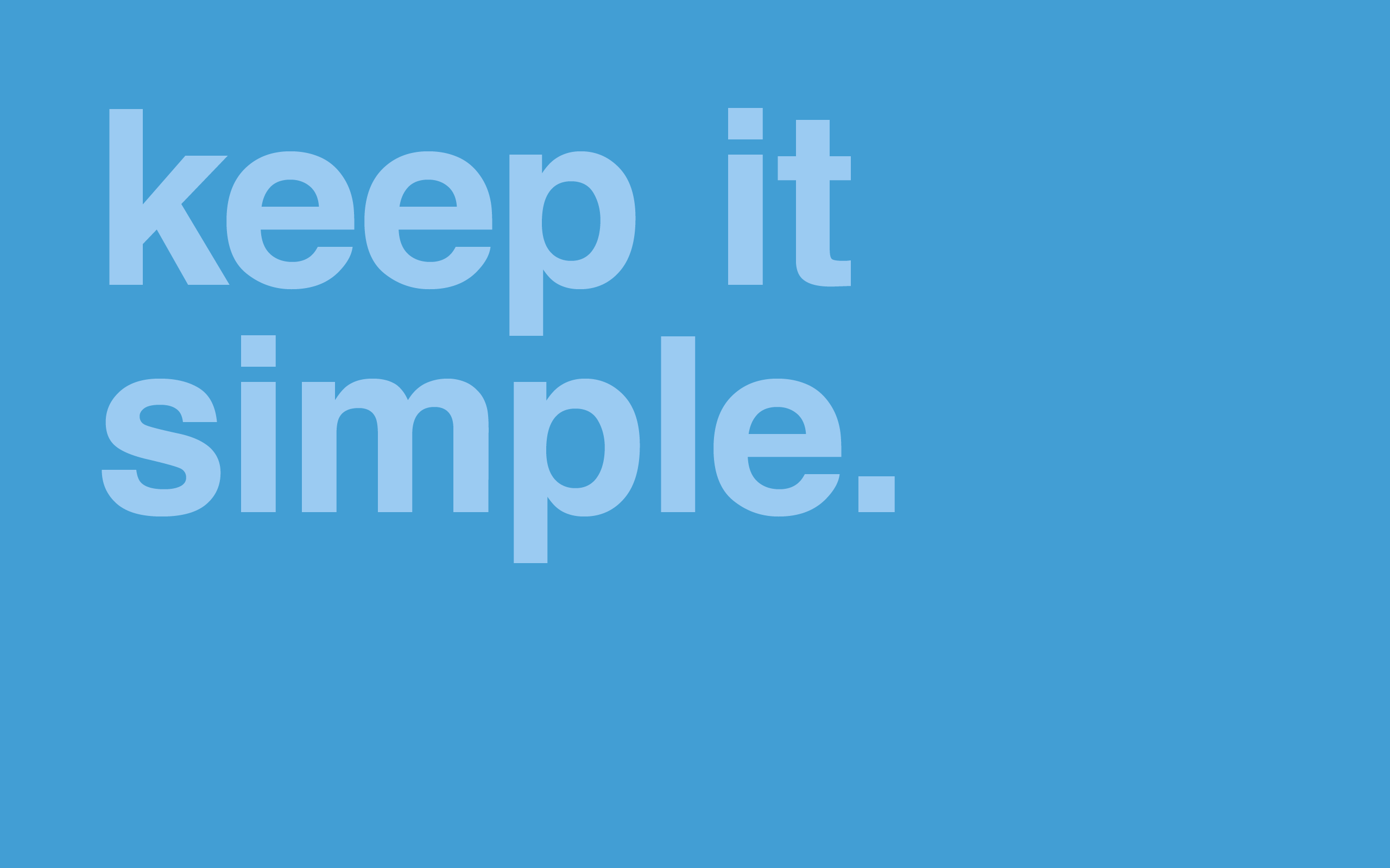 minimal desktop wallpaper keep it simple The Buzz Bin 2560x1600