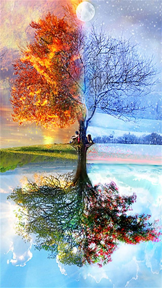 Four Seasons 2 iPhone Wallpapers iPhone 5s 4 s3G Wallpapers 640x1136