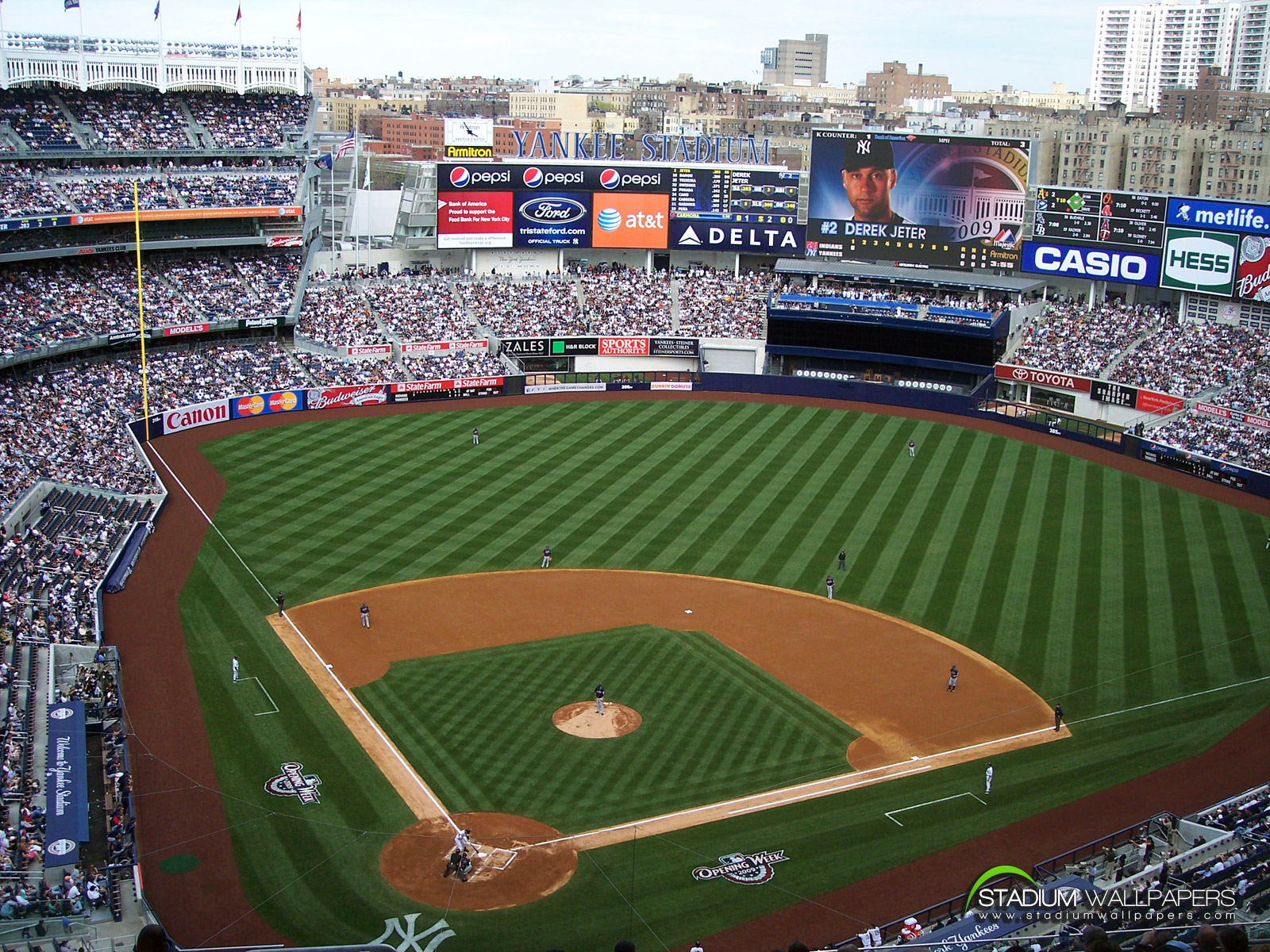 best top desktop baseball wallpapersnew yankee stadium wallpaperjpg 1600x1200