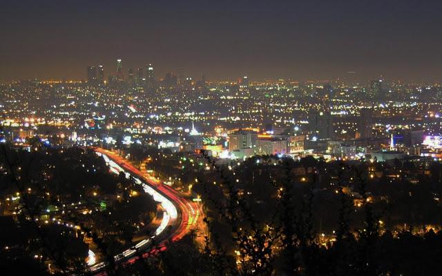 Los Angeles at Night Full HD Desktop Wallpapers 1080p 640x400