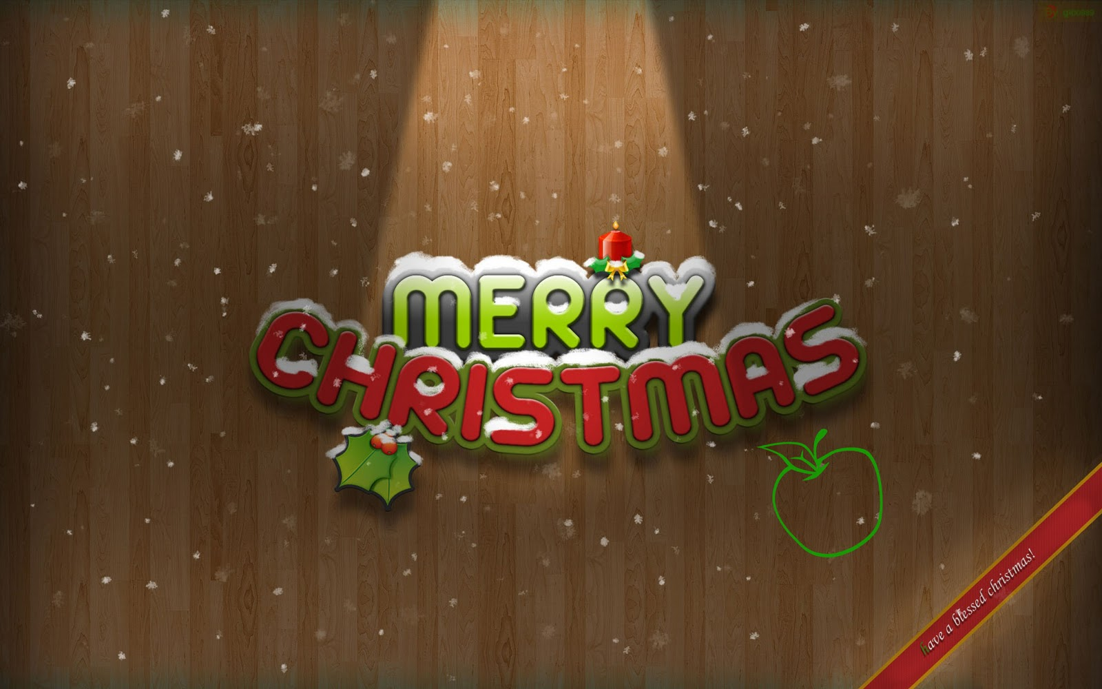 download merry christmas desktop wallpaper 1600x1000