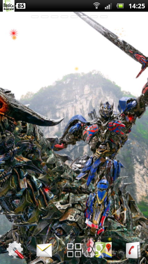 the Transformers 4 Live Wallpaper 3 for Android 480x854