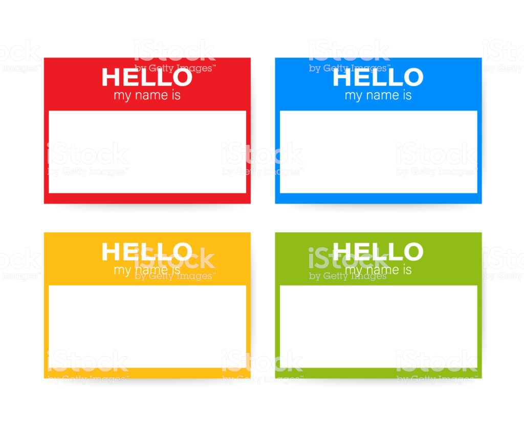 Hello My Name Is Name Tag Set Label Sticker On White Background 1024x854