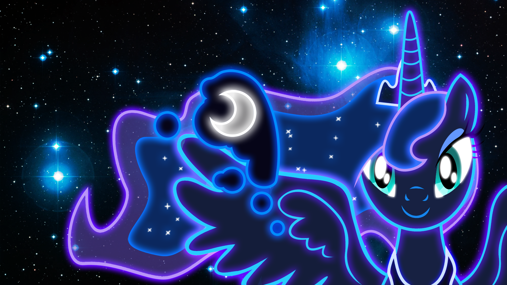 neon princess luna wallpaper by zantyarz watch fan art wallpaper 1920x1080