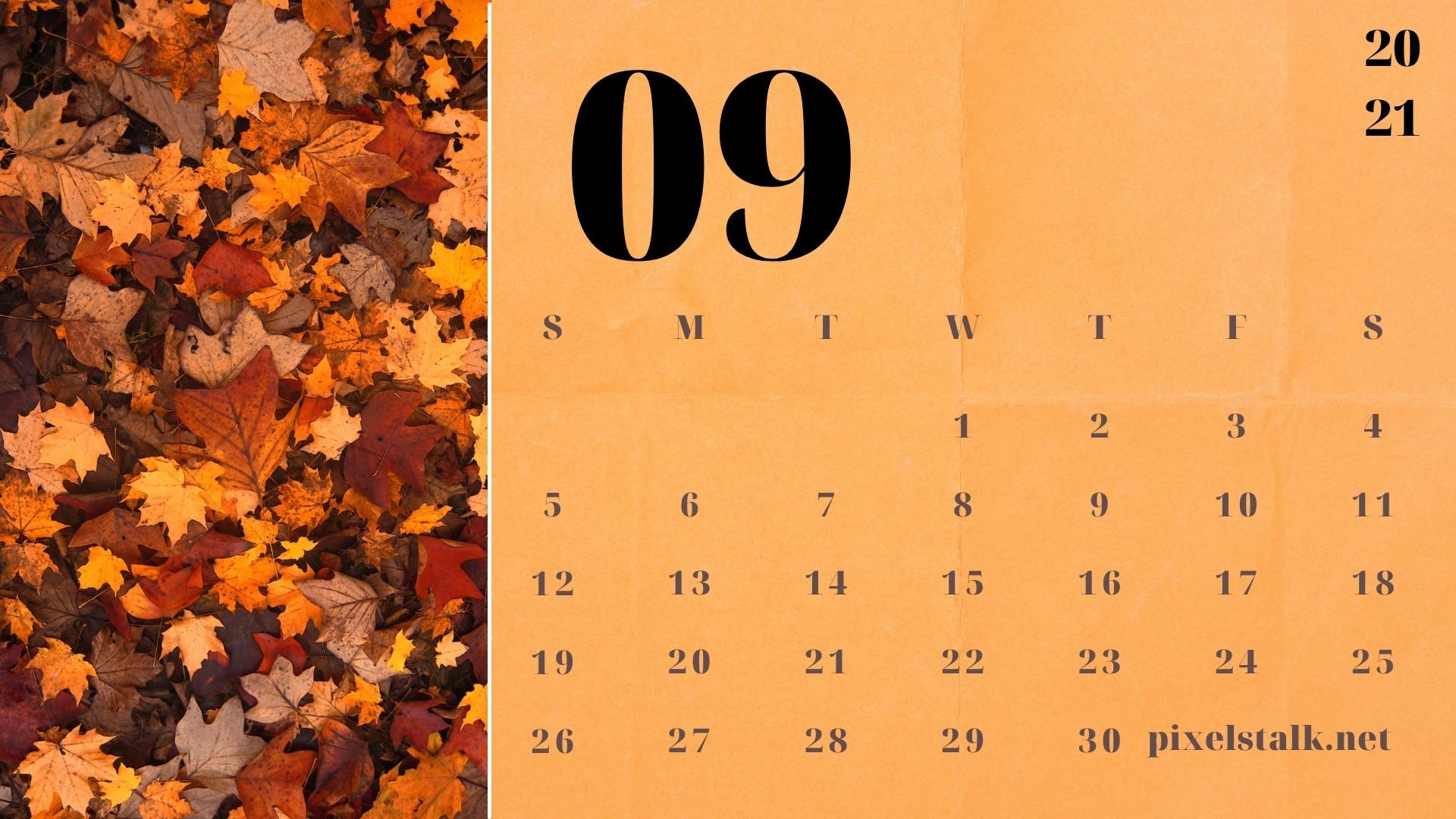 September 2021 Calendar Wallpapers 1920x1080