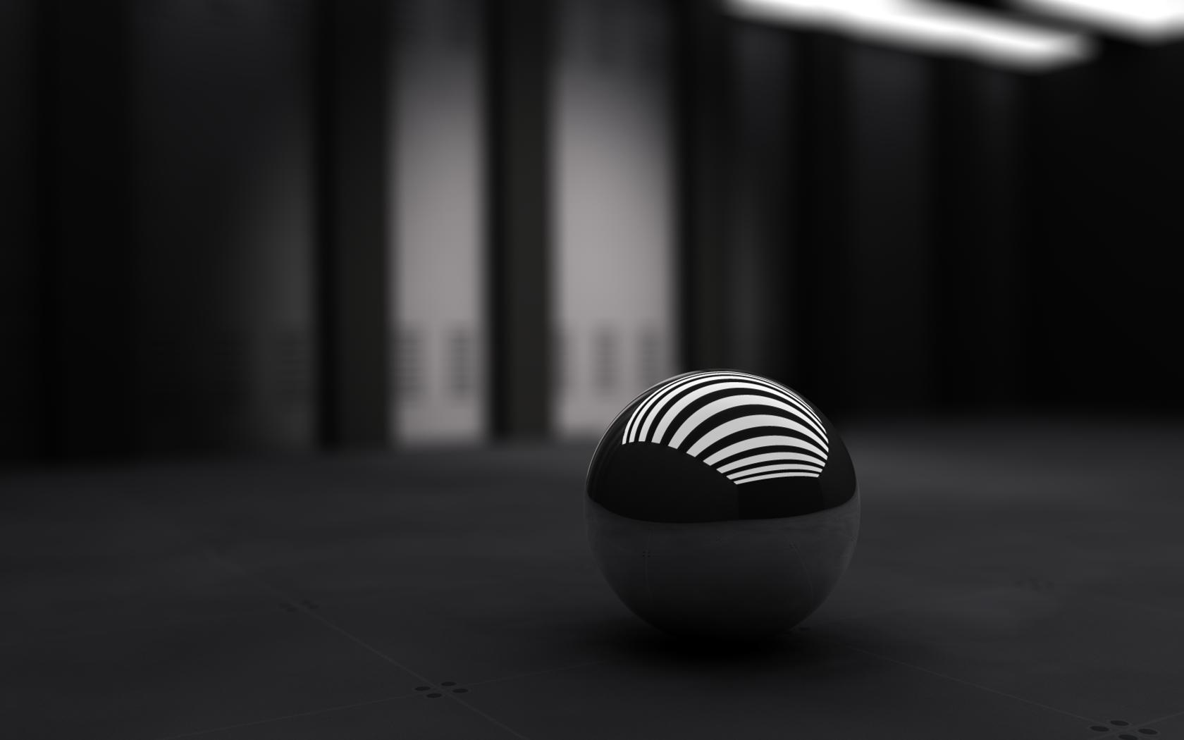 3D Black Ball Wallpapers HD Wallpapers 1680x1050