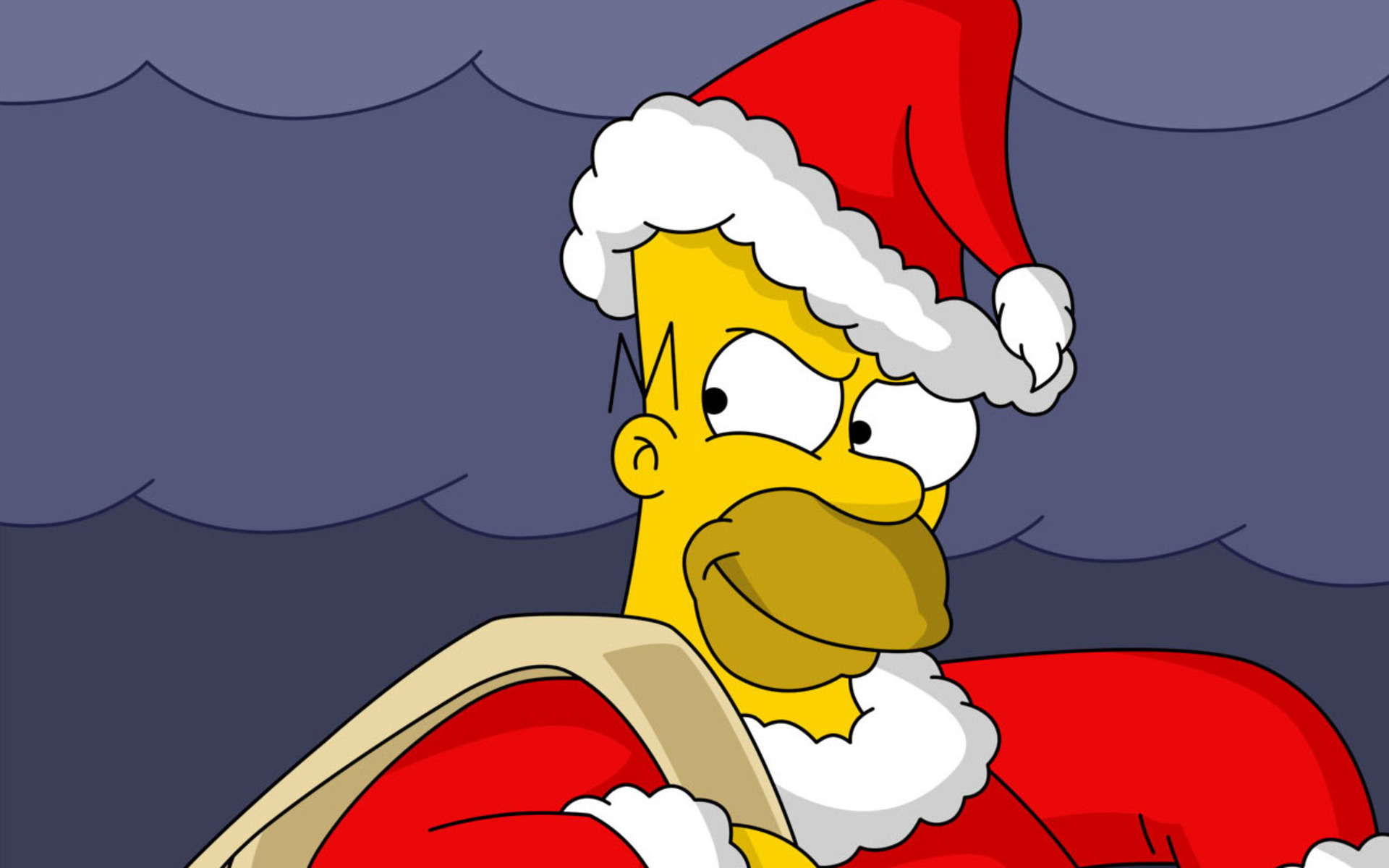 Simpsons Christmas Windows 8 Wallpaper HD 1920x1200