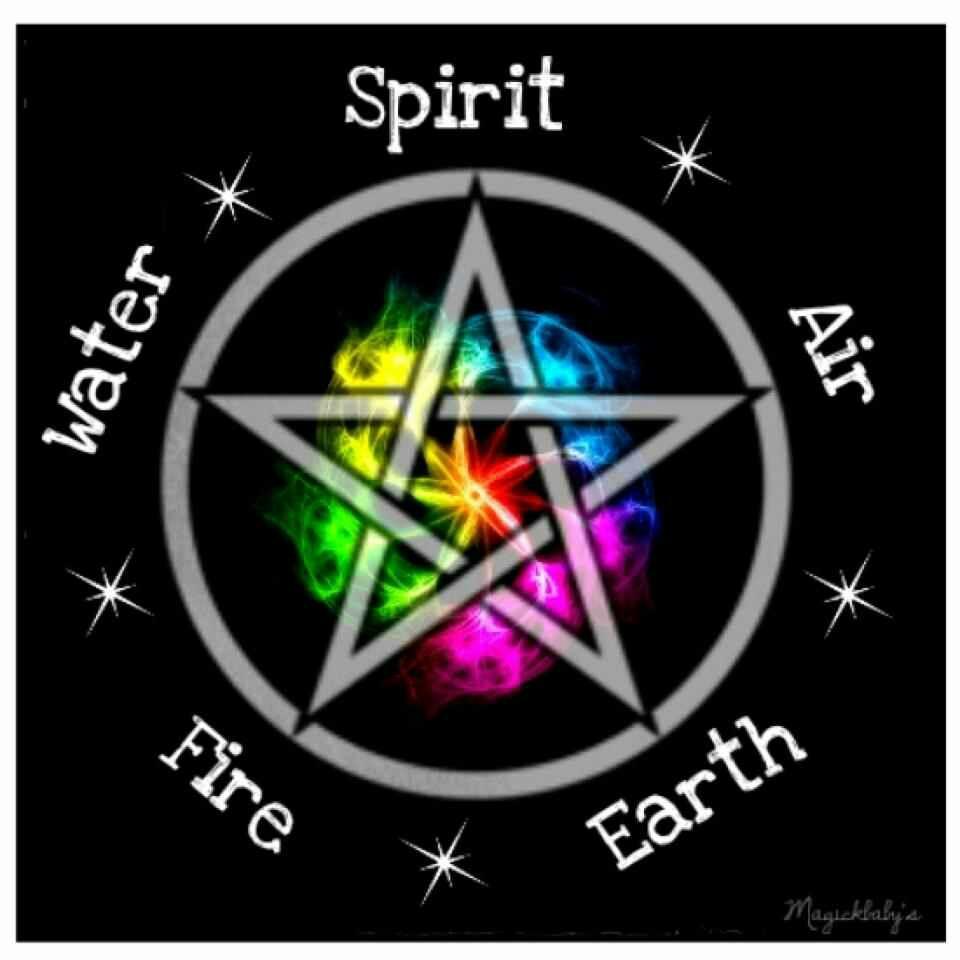Pagan Wiccan Elemental pentagram Bibbity Bobbity Boop Pinterest 960x960