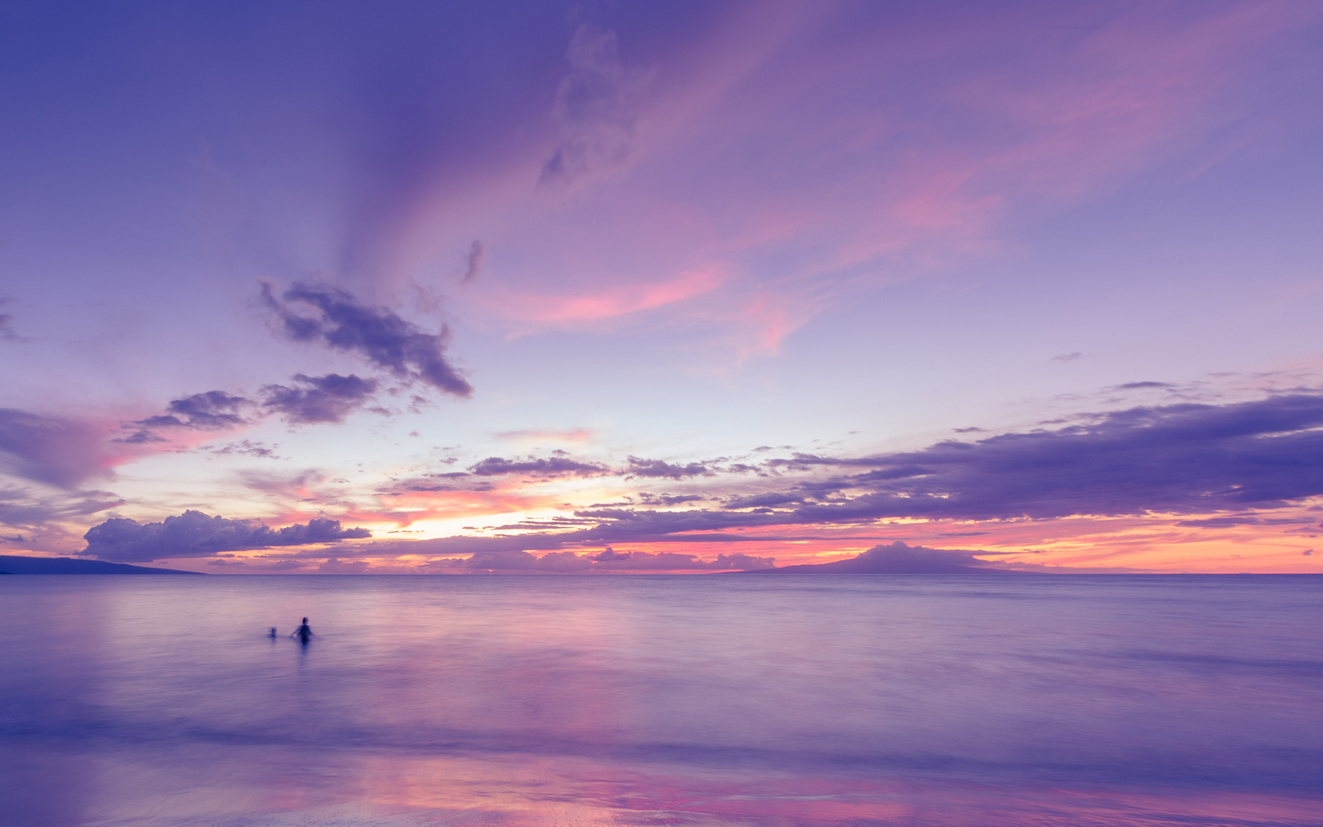 Ocean Clouds Sunset Purple Beach wallpaper | 1920x1200 | 132927 ...