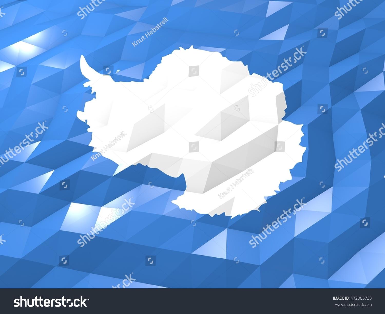 Royalty Stock Illustration of Flag Antarctica 3 D Wallpaper 1500x1225